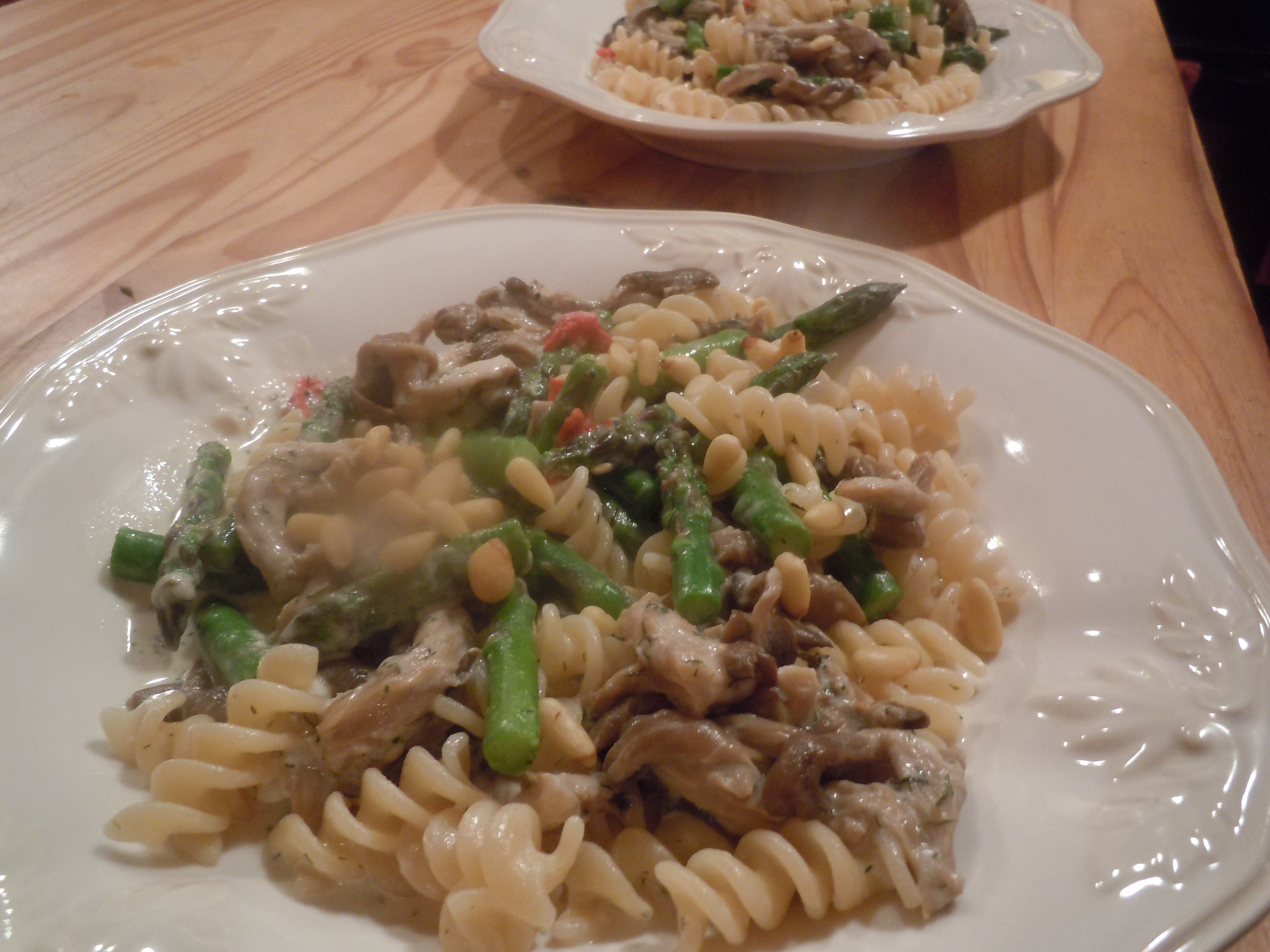 how to cook oyster mushrooms pasta